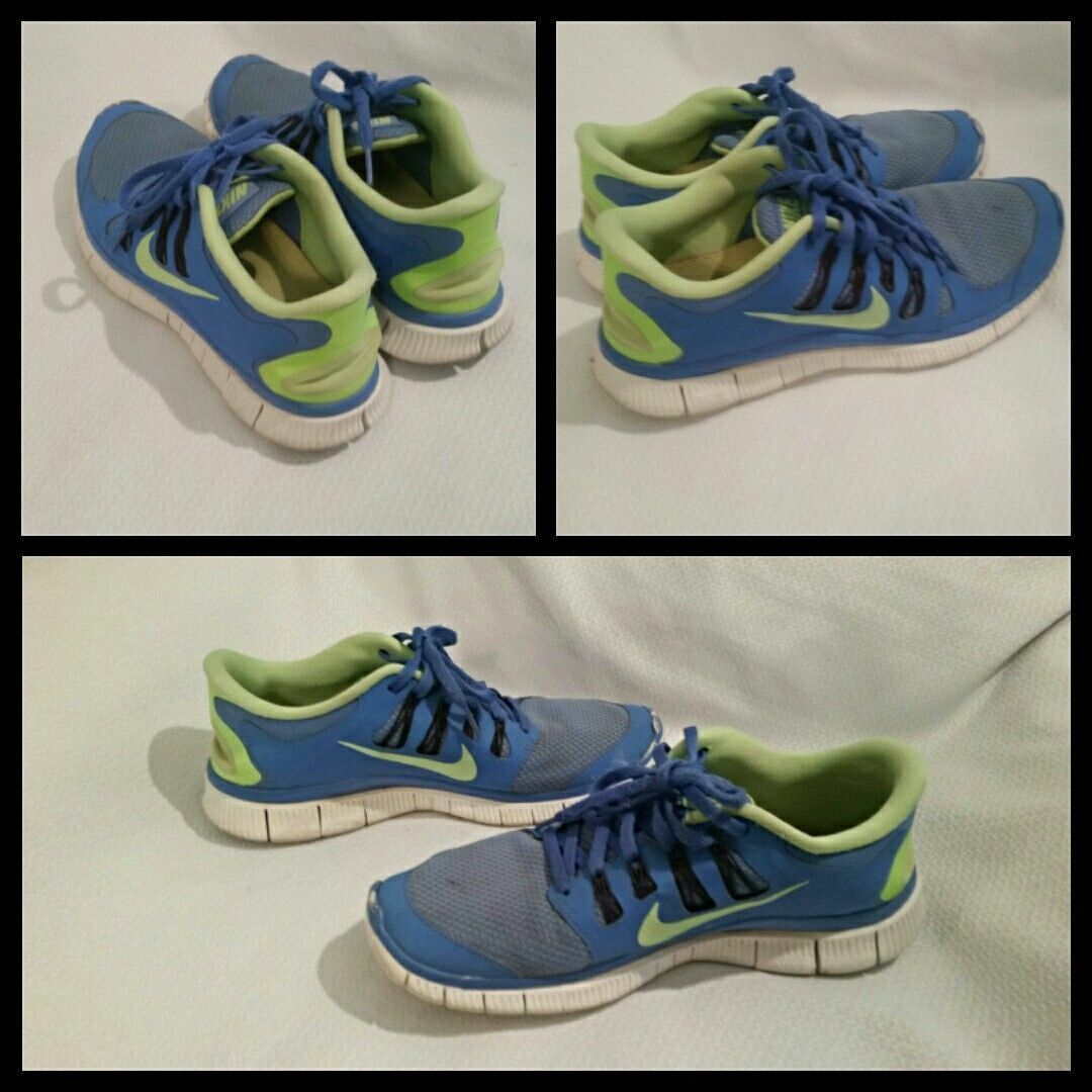 Womens Nike Free 5.0+ Tint Shoes  Style 580591-430 Blue\Anthracite\Blue Tint 5.0+ Used,EUC 589333