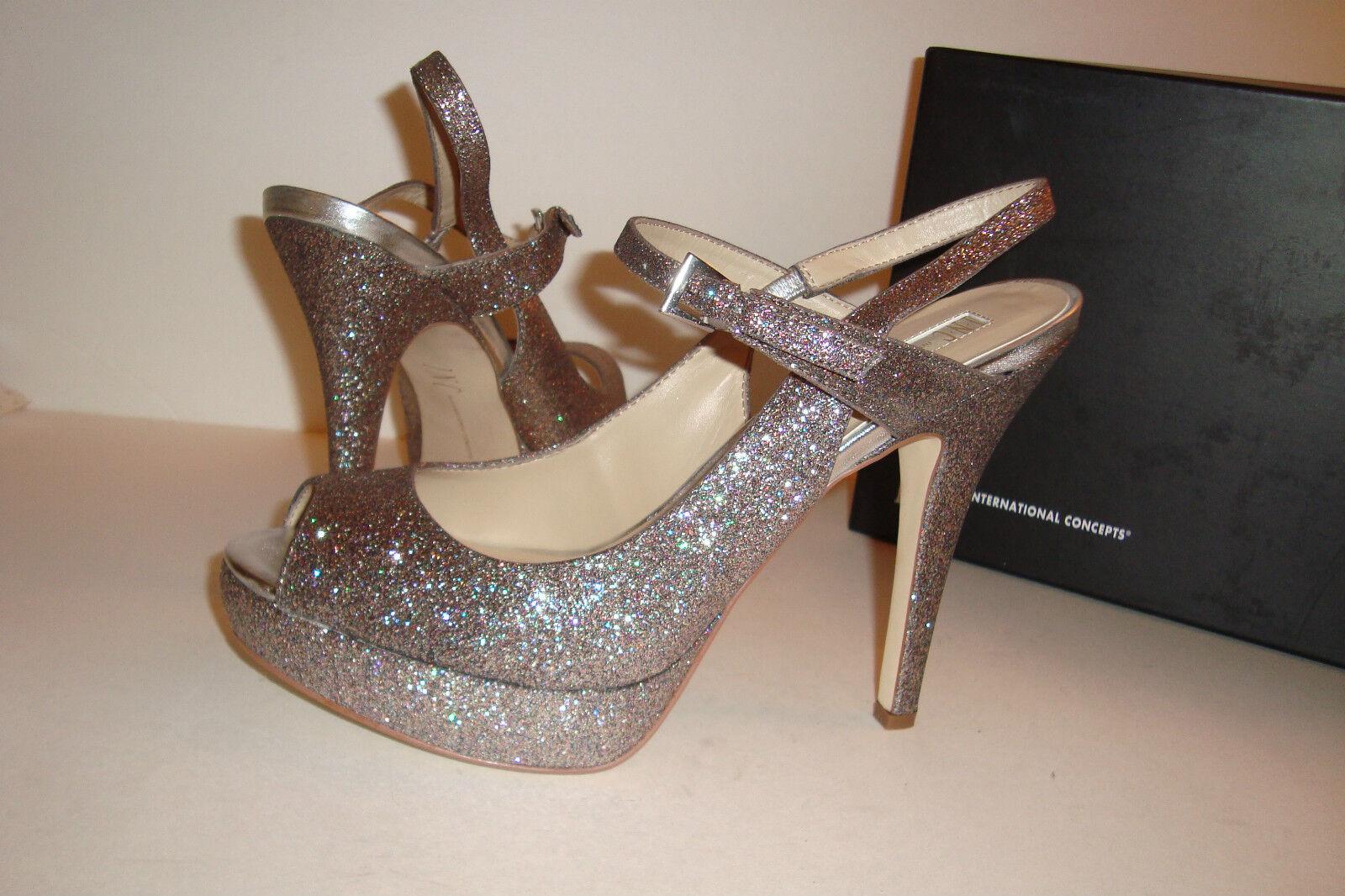 INC International Concepts Damenschuhe NWB Marie Multi Gold Heels Schuhes 9.5 MED NEW