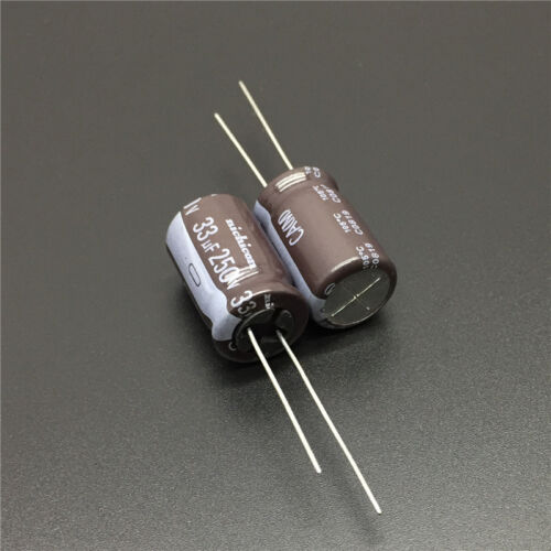 100pcs 33uF 250V Nichicon CA 12.5x20mm 250V33uF Long Life Capacitor