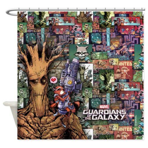 CafePress Groot Rocket Comic Shower Curtain 1425306433