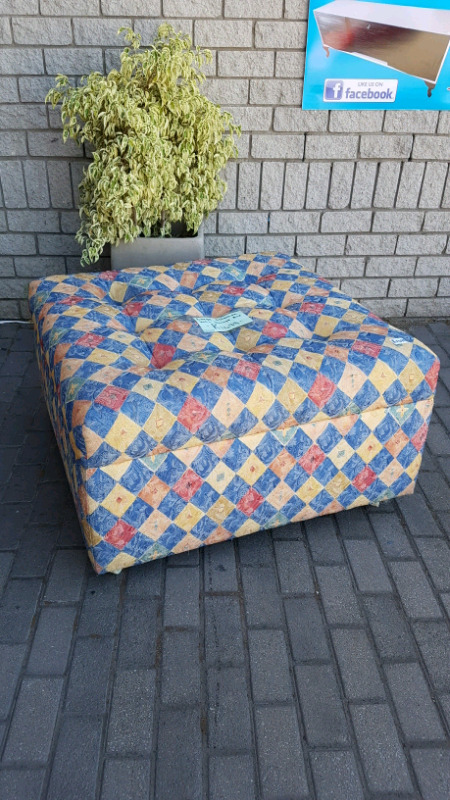 Large ottoman with storage space.