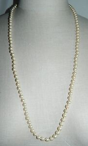 Vintage-Marvella-Gold-Tone-Champagne-Glass-Faux-Pearl-Necklace-with-Tags