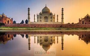 Poster A3 Taj Mahal Edificio Indio / Taj Mahal Indian Building 01