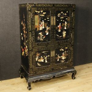 Superieur Image Is Loading Cupboard Lacquered Chinoiserie Furniture  French Wooden Cabinet Antique