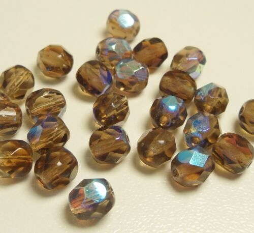 90 Preciosa rodé perles 6 mm Feu Poli À Facettes Marron Perle À faire soi-même x281#3
