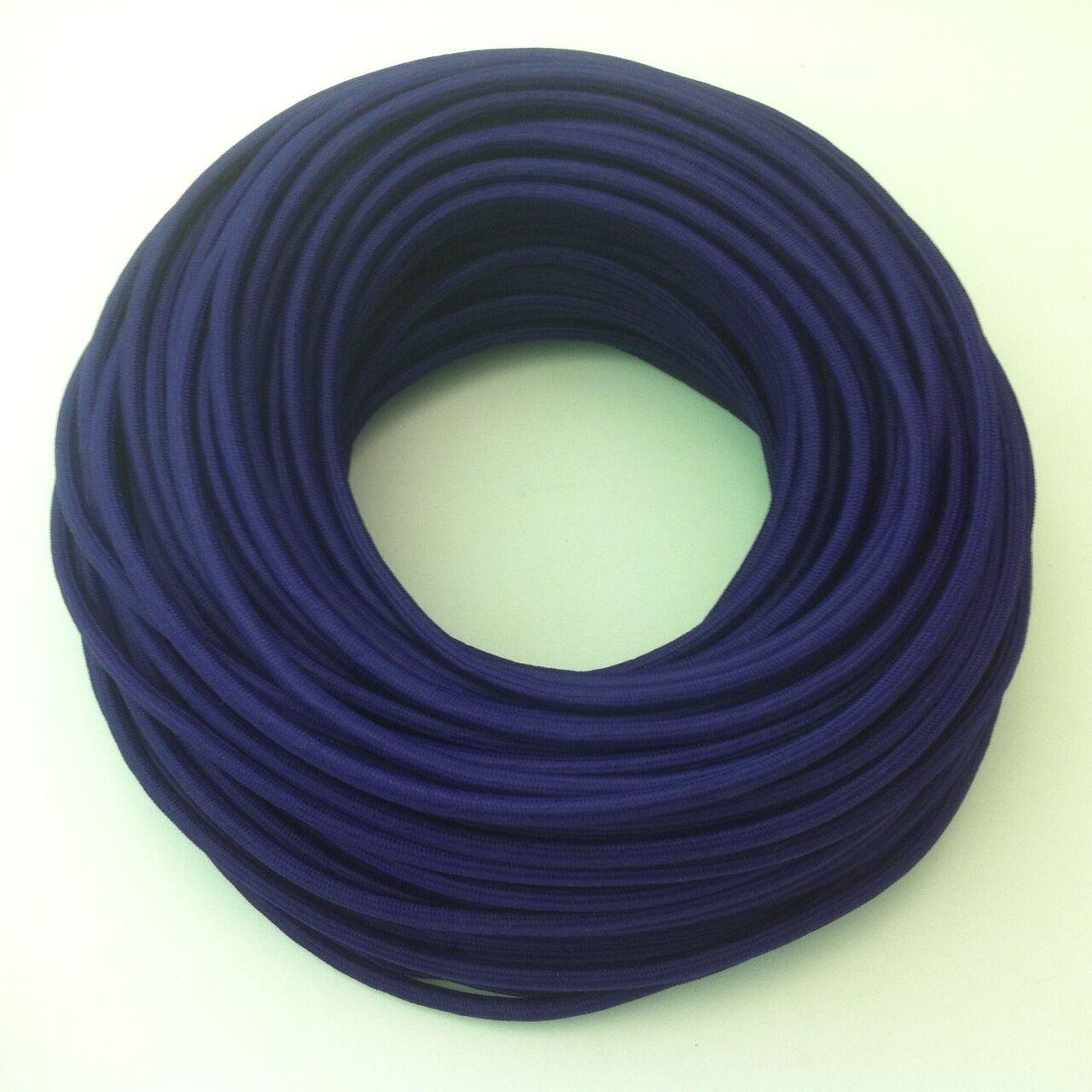 Textilkabel Stoffkabel 100m Design Zug-Pendelleitung Lila 2x0,75 TOP EU Qualität