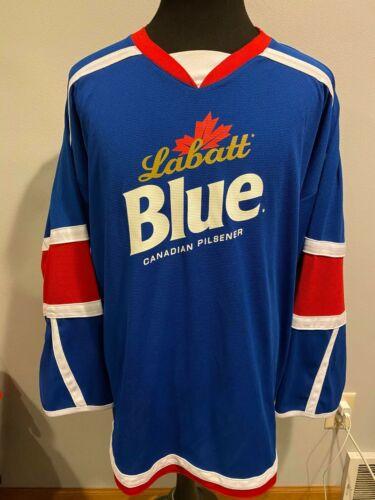 Vintage Labatt Blue Canadian Pilsener Beer Hockey