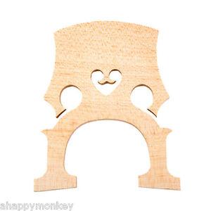 Nouveau Haute Qualité Intermédiaire Cello Bridge, 1/2 Taille Violoncelle Ponts Cello Parts-afficher Le Titre D'origine