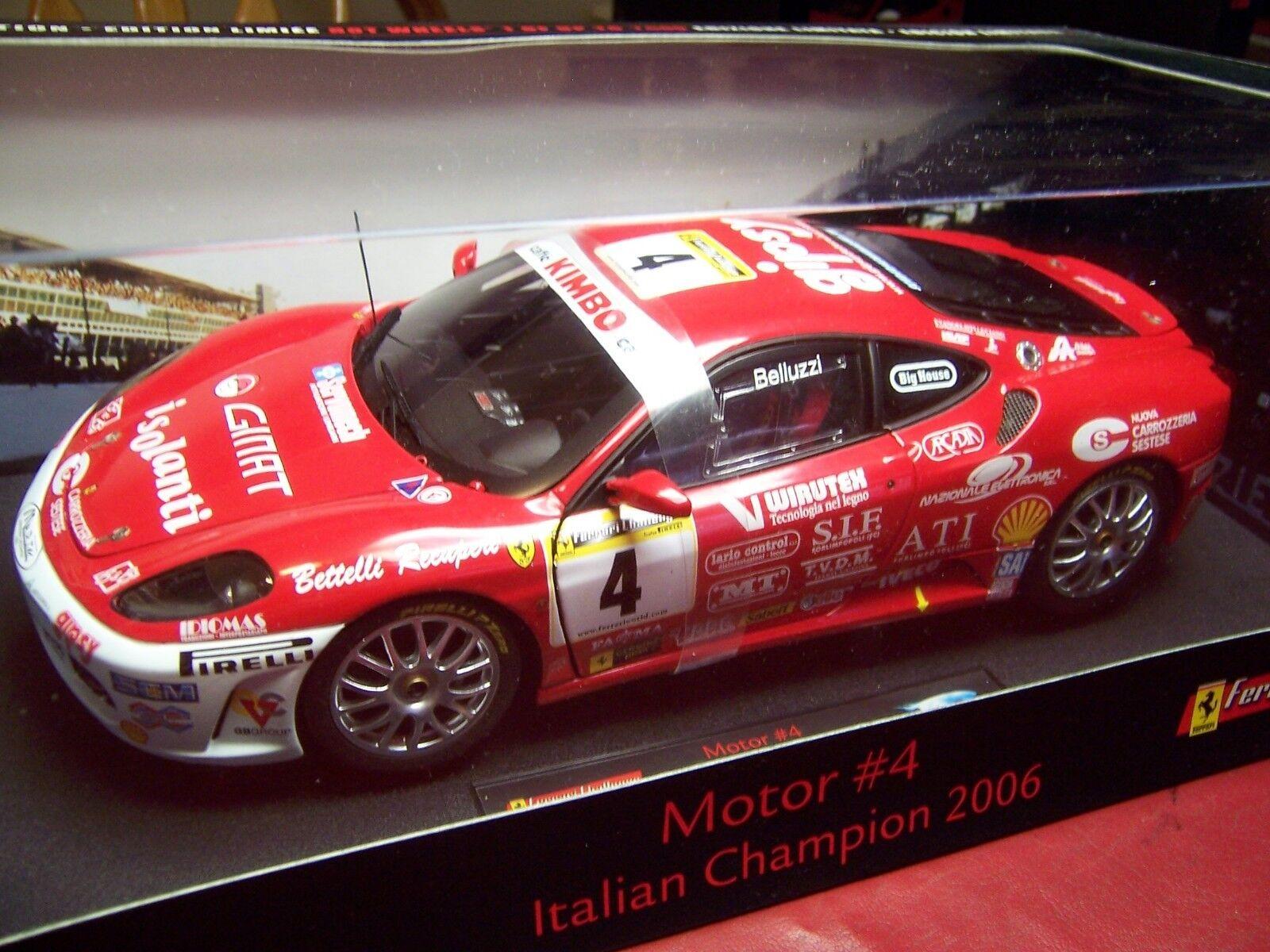 varm HJULER ELITE L9533 FERRARI F430 MOTOR Italian Champion 2006 begränsad 1  18