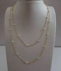 36-039-039-LONG-DIAMOND-CUT-BEADED-ITALIAN-MADE-NECKLACE-14K-YELLOW-GOLD-OVER-SILVER
