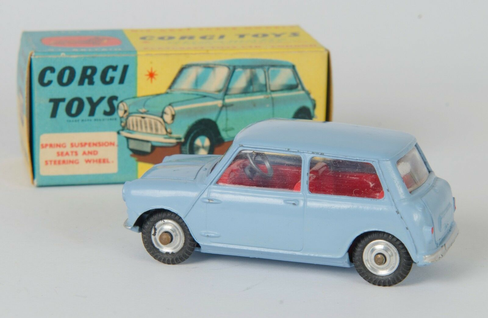 Corgi 226 Morris Mini-Minor. Light blueee. VNMINT & Boxed. Original 1960's