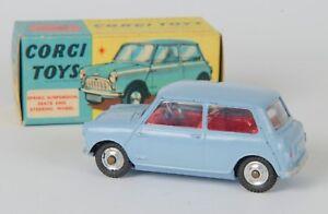 Corgi 226 Morris Mini-mineur.   Bleu clair.   Vnmint & Boxed.   Original des années 1960