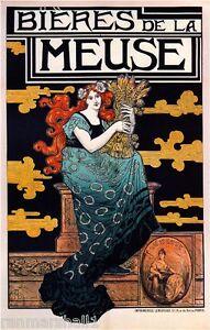 French France Bieres De la Meuse #2 Vintage Advertisement Art Poster Print