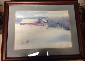 Donald-Voorhees-Lithograph-034-snowbound-034-Signed-And-Numbered-With-COA-Dated-1985