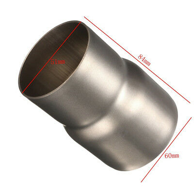 """Motorcycle Exhaust Adapter Reducer Connector Sleeve Pipe 61-51mm//2.4/""""-2/"""""""
