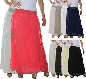 mujer-falda-Maxi-Verano-langerrock-DE-VUELO-cintura-alta-vestido-d-41-NUEVO