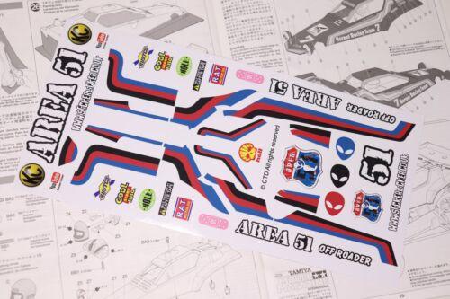 Area 51 Alien UFO Retro theme vinyl sticker set Fits Tamiya Hornet R//C Buggy