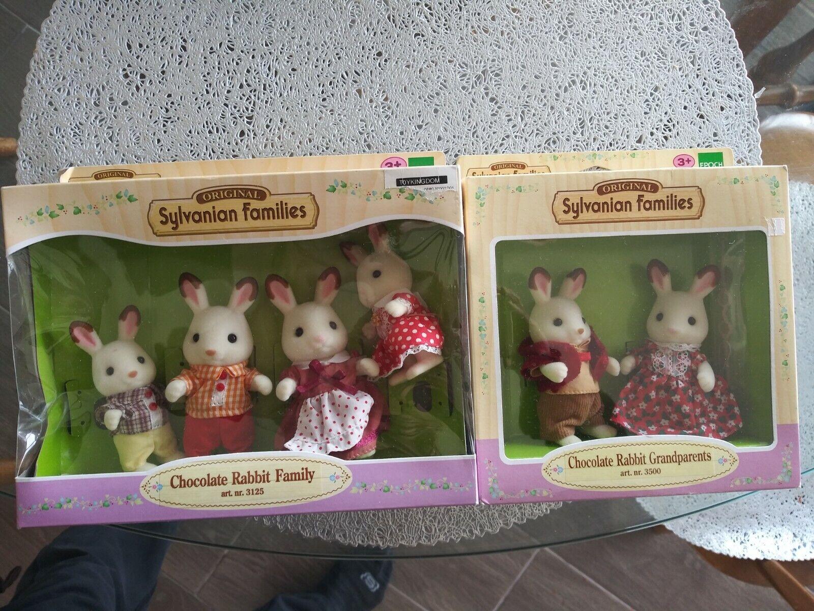 Sylvanian Families-Chocolate Conejo familiar y abuelos Epoch