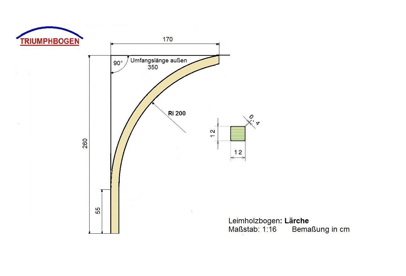 Lärche Leimholzbogen Ri2m 3,50m 12x12 Holzbogen Carport Wohnwagen sehr hoch