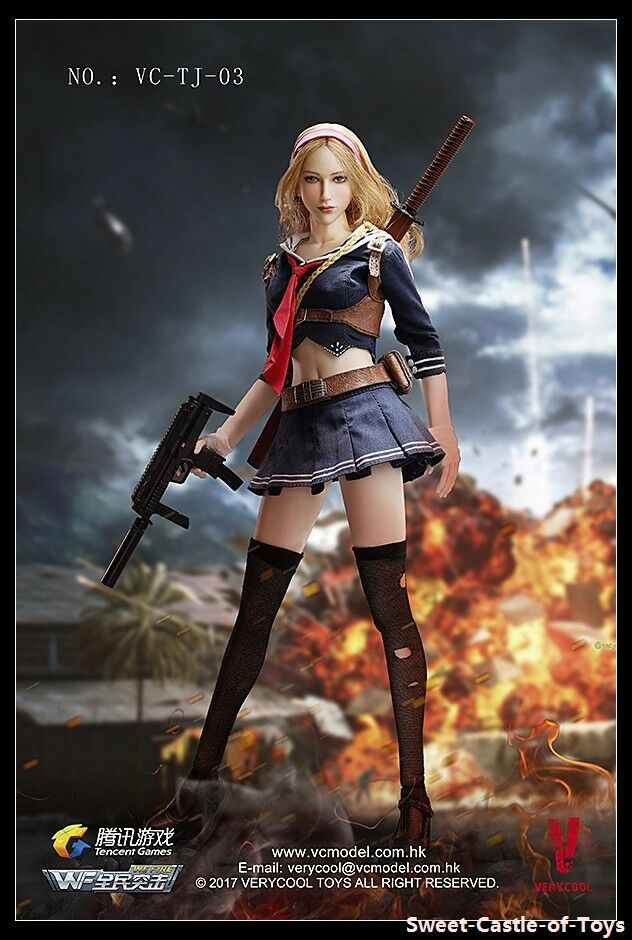 1 6 VeryCool Wefire of Tencent Game Third Bomb Blade Girl Female Figure VC-TJ-03