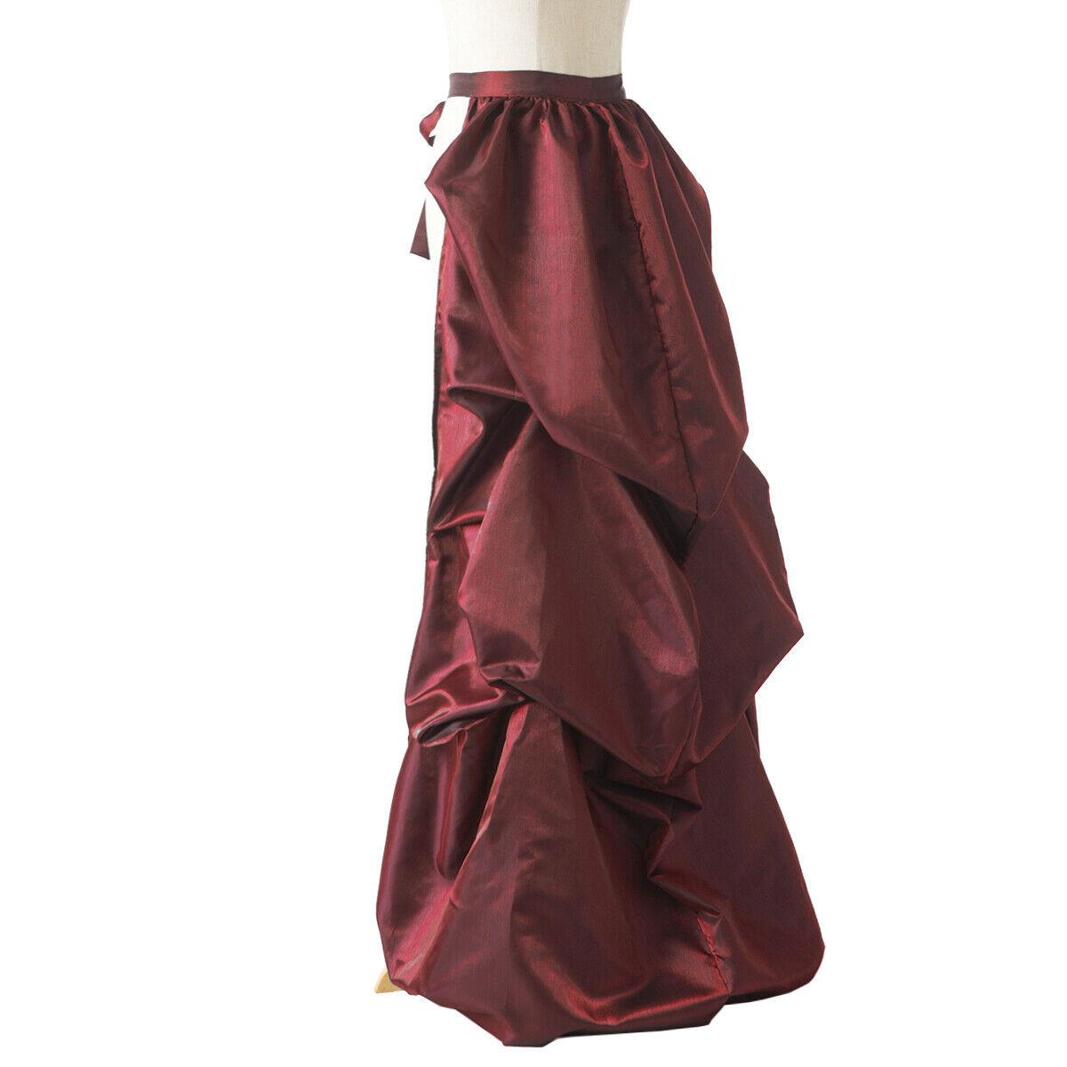 Vintage Victorian Edwardian Bustle Skirt Fancy Dr… - image 7