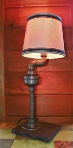 Retro-Industrial-Vintage-Steampunk-Waterspout-style-Lamp-with-Shade