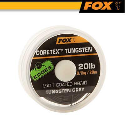 Fox Edges Camotex Dark Camo Stiff 20m Vorfach Karpfenvorfach Rig Vorfachmaterial