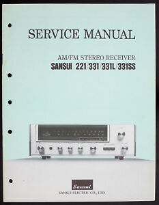 Sansui-221-331-331L-331SS-Original-AM-FM-Stereo-Receiver-Service-Manual-O152