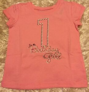 Details About NWT PINK IM THE BIRTHDAY GIRL 1 ONE T SHIRT CHILDRENS PLACE SIZE 12 18 MOS