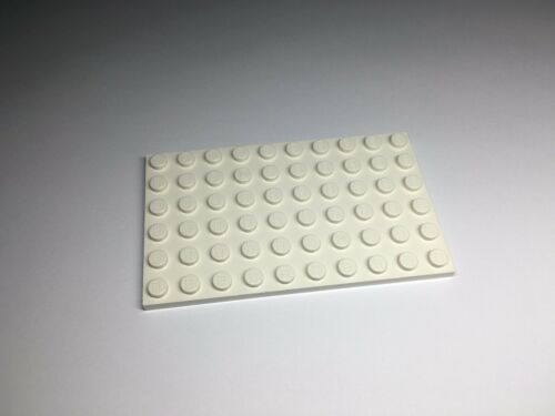 LEGO 3033 White Plate 6 x 10 Parts x1