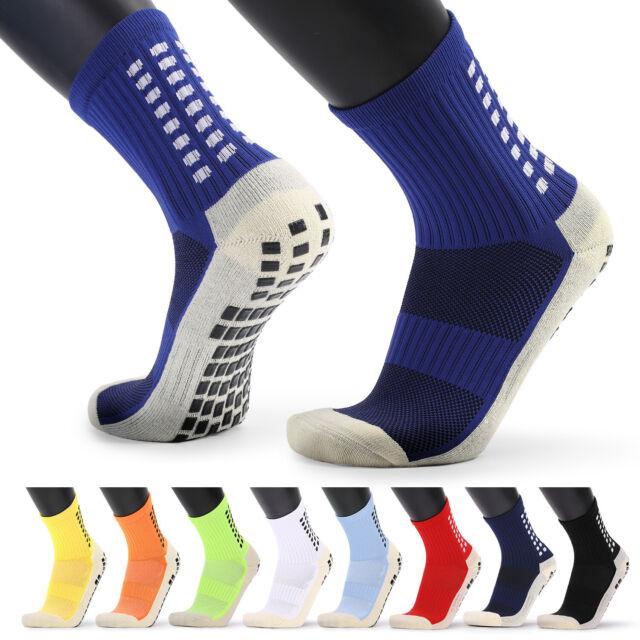 Men/'s Anti Slip Football Socks Athletic Long Socks Absorbent Sports Grip T2T0