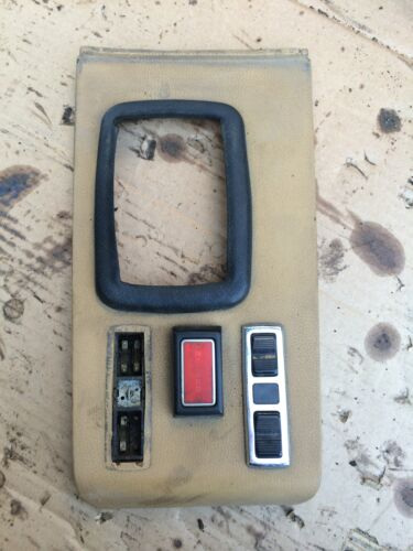 74 Mercedes 400 Series OEM 450SLC 4.5 Shifter Cover Console Switch Bezel Trim