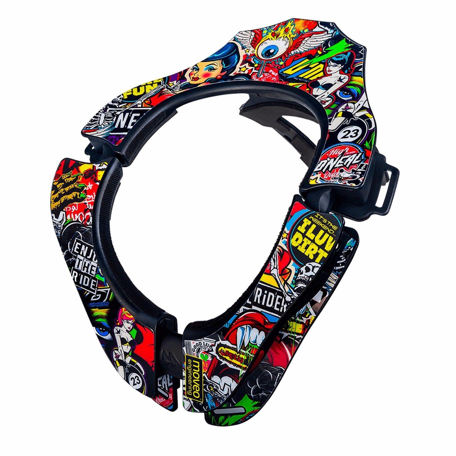 O 'Neal MTB Projoección Acolchado Cómodo Tron neckbrace Multi-Color 0535-102