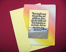 "/""Dogs Come Into Our Lives/"" Inspiring sku# 119 Keepsake Enclosed Verse Card"