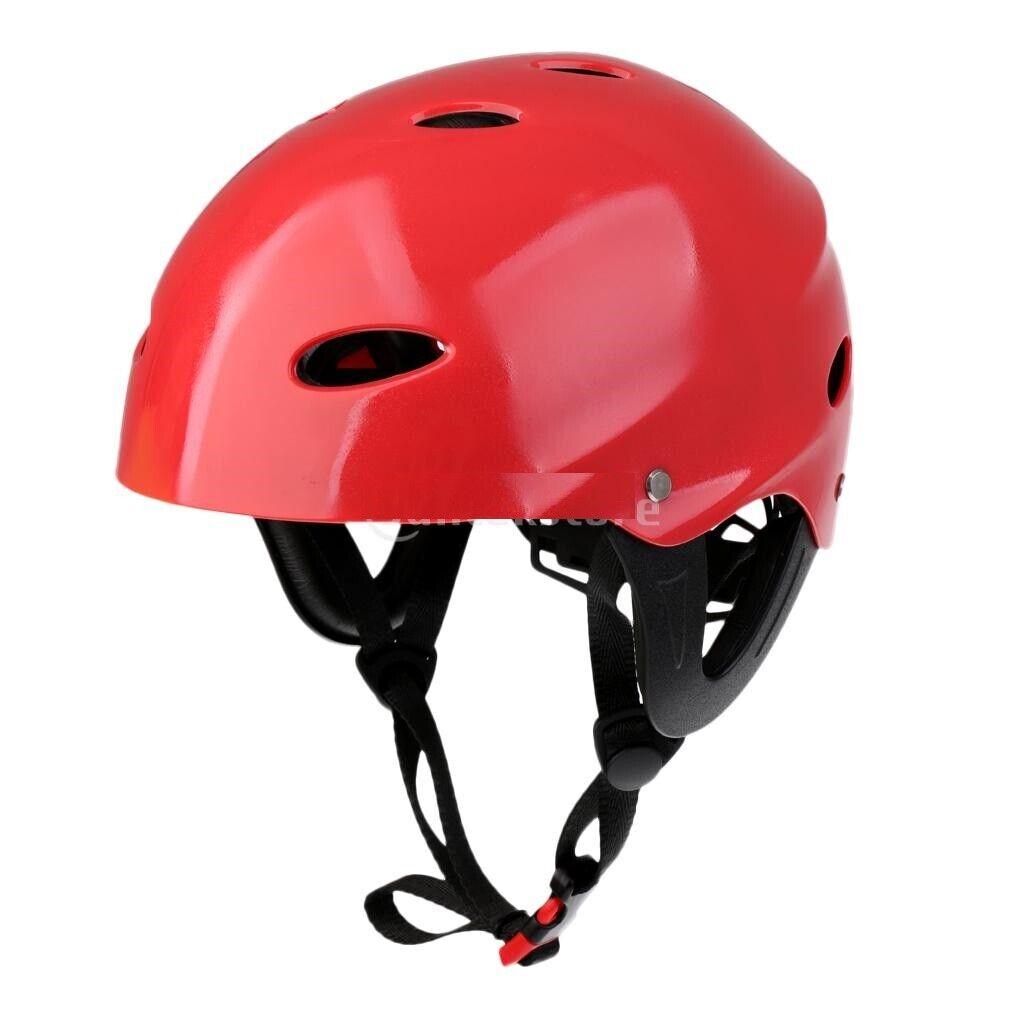 Water Sports Safety Helmet ABS Adjustable Belt Waterproof Kayak Paddle Board Cap