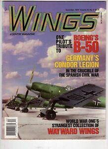Wings-Airplane-Magazine-Dec1999-Germany-Condor-Legion-Wayward-Wing-Boeing-B-50