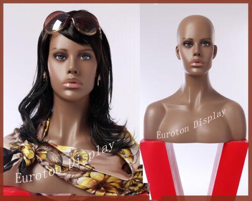 HFO Eurotondisplay Dekokopf Perückenkopf Schaufensterpuppe Mannequin Weiblich
