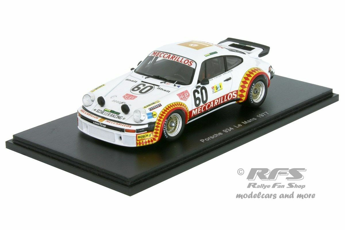Porsche 934 24h Le Mans 1977 Haldi Vetsch all - 1 43 Spark 4751