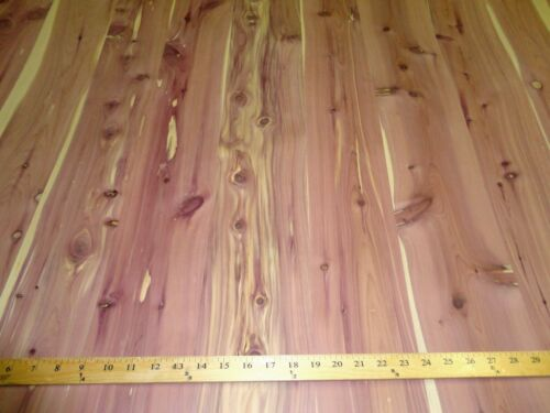 """Aromatic Knotty Cedar wood veneer 24/"""" x 96/"""" sheets on paper backer 1//40/"""" thick"""