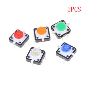 5PCS-12X12X7-3-Tactile-Push-Button-Switch-Momentary-Tact-LED-EG