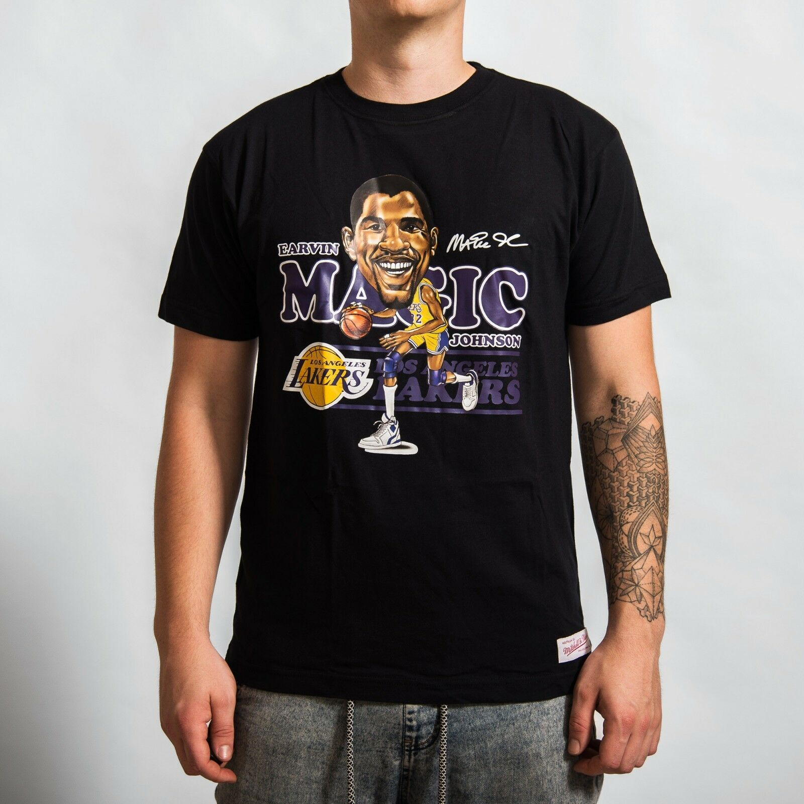 Mitchell & Ness Los Angeles Lakers Magic Johnson CARICATTRAD-LALAKE-BLK
