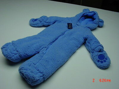 NWT Disney Infant Boys Bunting Snowsuit Mickey Mouse Baby Blue Soft NEW UNUSED