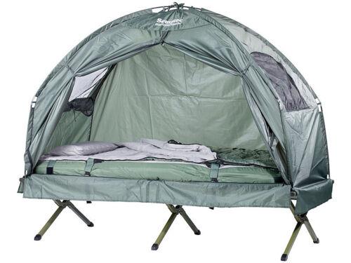 4in1-Zelt mit Schlafsack und Matratze /& Campingliege