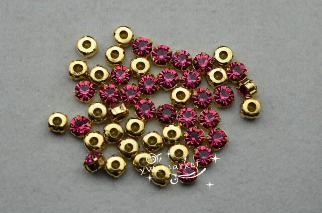 50 pcs color rhinestone Loose crystal sew on ss38