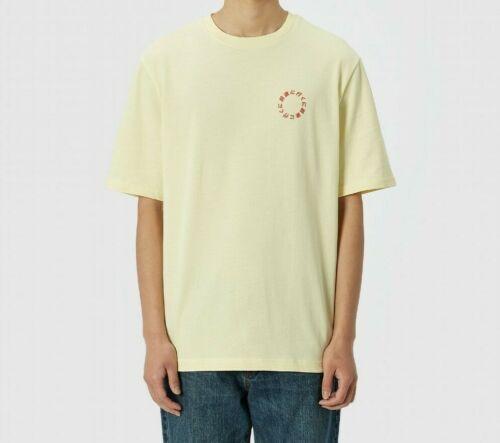 Mens Axel Arigato Japanese Circle Graphic Yellow T-Shirt RRP £59.99 LA2