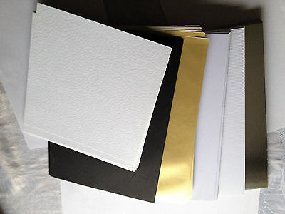 Joblot 120 Cards/Paper A4:Gold/Silver/Black/White-Bundle Clearout See Details
