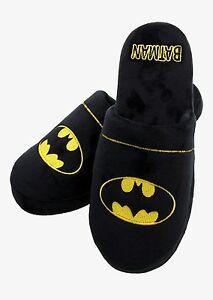 Batman Mula Pantuflas Antideslizante Suelas UK Tamaños 5-10