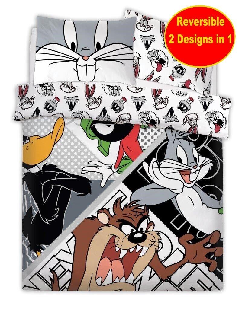 Looney Tunes Dessins Animés Double Polycoton Ensemble Housse de Couette