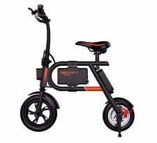 INMOTION P1 E-Bike - Folding Electric Bicycle with 10Mile Range - Black & Orange