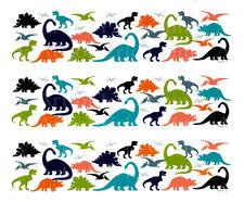 Dinosaurs ~ Edible Cake Image ~ 1/4 Sheet Designer Strips ~ D22204